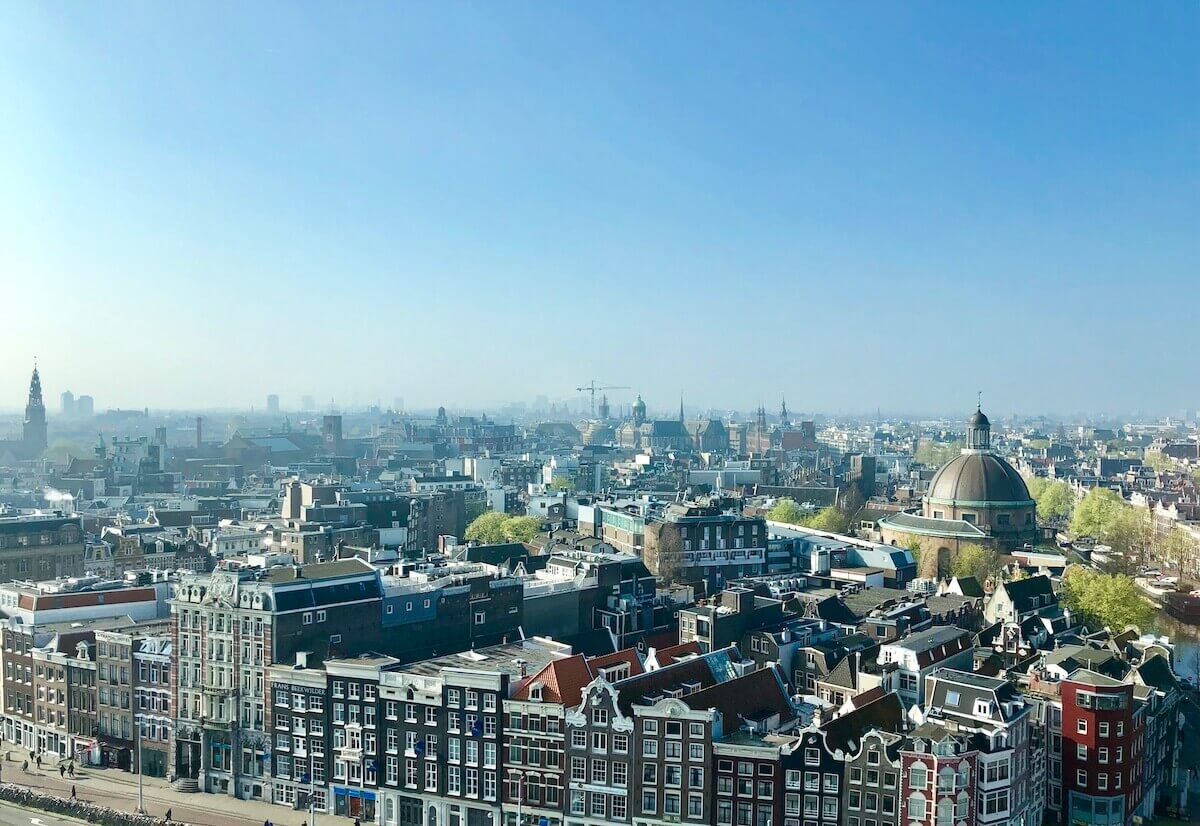 Amsterdam from the height – Center