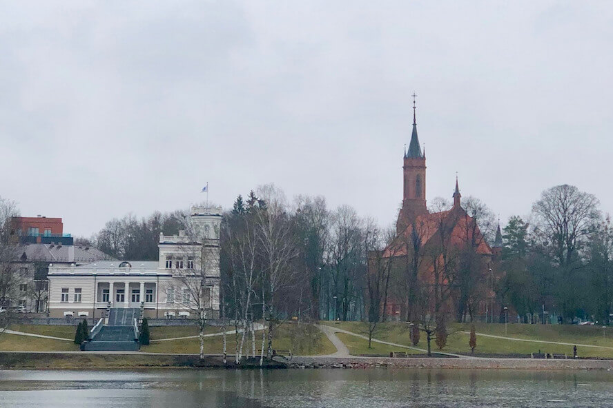 View of Druskinikai from Drusconis Lake
