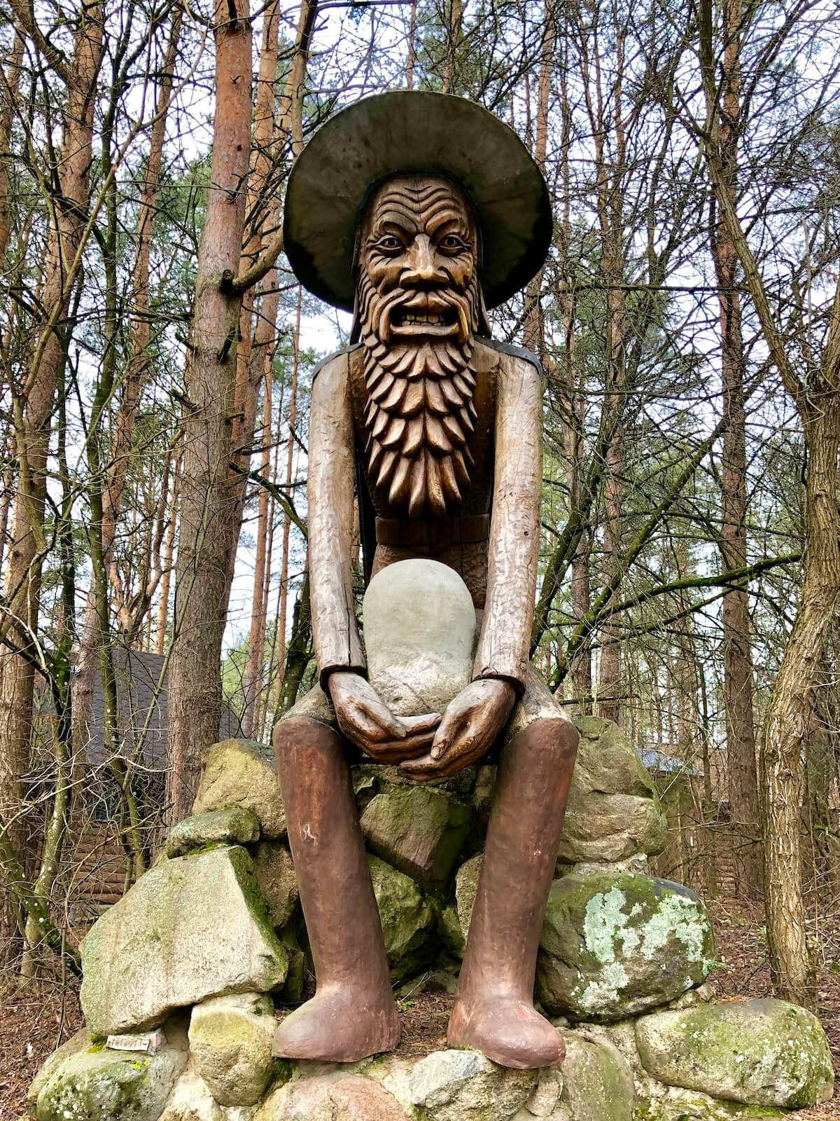 The forest man in Anastas Cesnulis Park