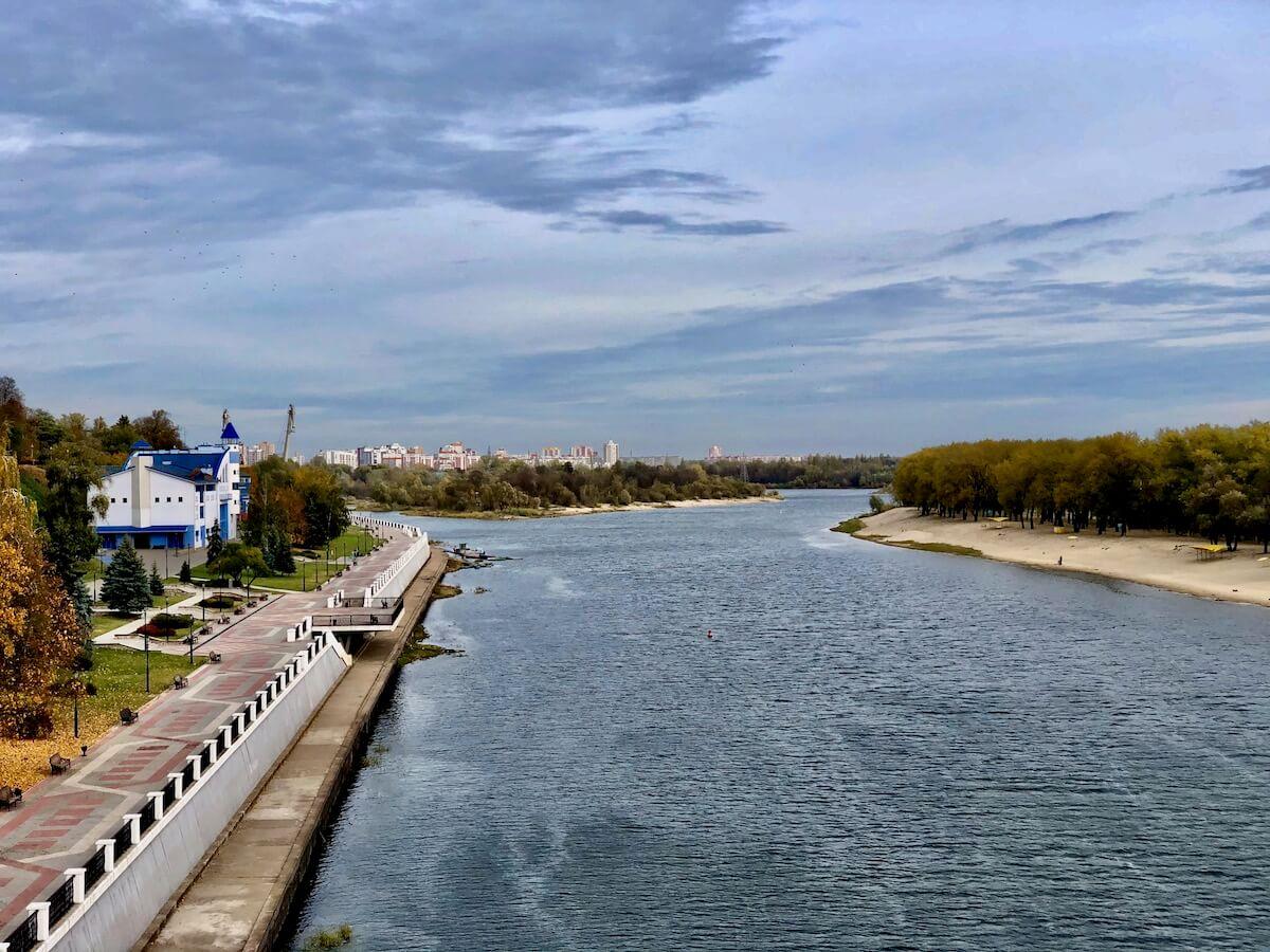 Вид на Сож с пешеходного моста